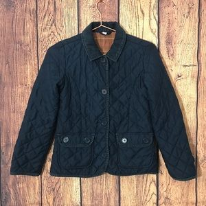 Girls Gap Quilted Jacket XXL NavyBlue